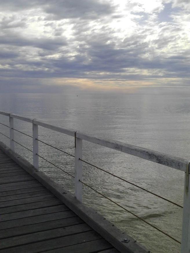 The silver sea ...