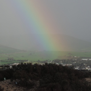 Rainbow over the Sellicks Hills