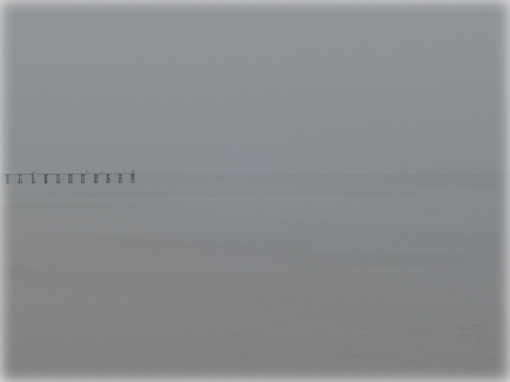 Largs Bay Jetty in the mist 16 August 2015 11.05 am