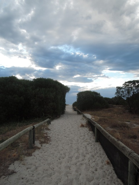 My daily path to the beach