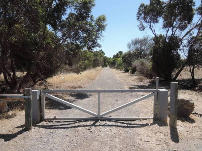 Through the gate ...