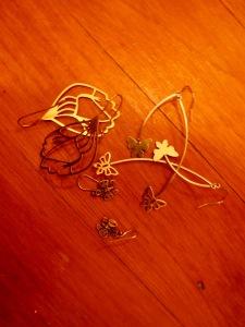 Assorted butterfly earrings