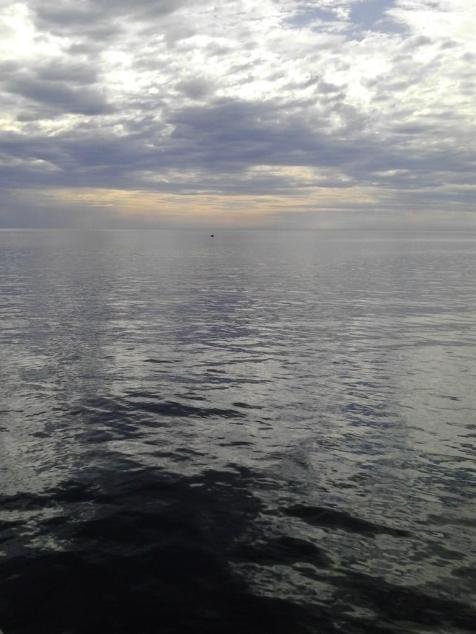 An ocean shining