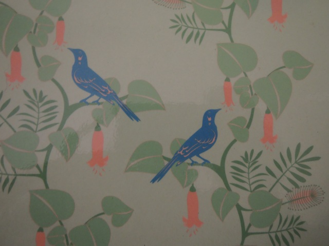 Wattlebirds (from a photo of a sheet of Earth Greetings wrapping paper: https://www.earthgreetings.com.au)