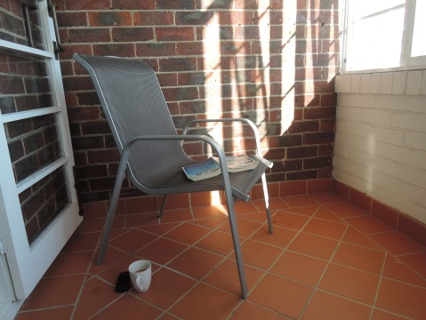 Morning cuppa on the balcony: my own little sanctuary