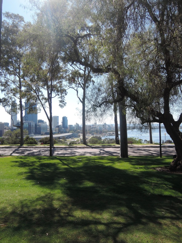 View of Perth and the Swan River from Kings Park Sunday 23 October 2016